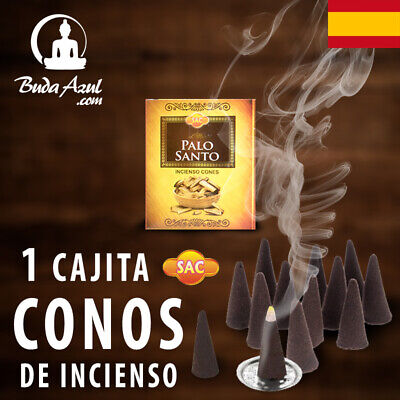 CONOS PALO SANTO INCIENSO SAC 1 CAJITA CONO INDIO AROMA FRAGANCIA LARGA...
