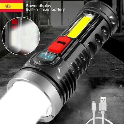 Super brillante 10000000LM Antorcha Linterna LED Luz táctica recargable USB SP