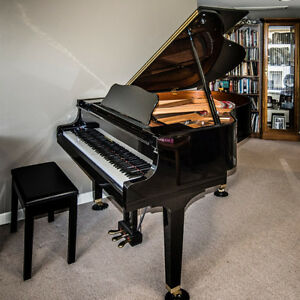 """5' 3"""" Grand Piano in polished black"""