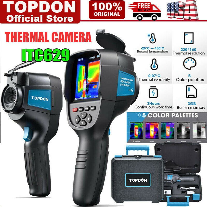 """Handheld Infrared Thermal Imaging Inspection Camera 320x240 Resolution 3.2"""" LCD"""