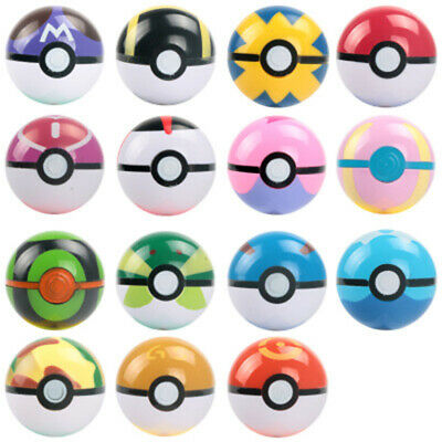 5pcs/Set Pokemon Clip Kids Dolls Poke Ball+Figures Play Game Pokémon Trainer