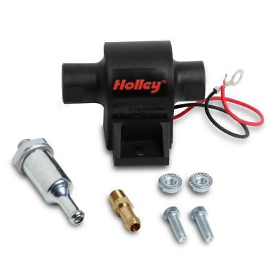 Holley Electric Fuel Pump 12-427; 32 GPH Mighty Mite Black Gas, E-85-Compatible