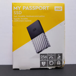 Western Digital Passport 256GB SSD External Hard Drive – NEW