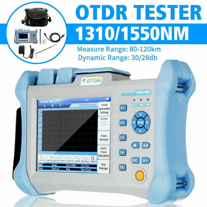5.6inch Touch Screen OTDR Tester 80-120KM 1310/1550nm Integrated VFL Measure
