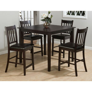 Contemporary Style, Gray Finish,5 Pc Counter Height Dining Set