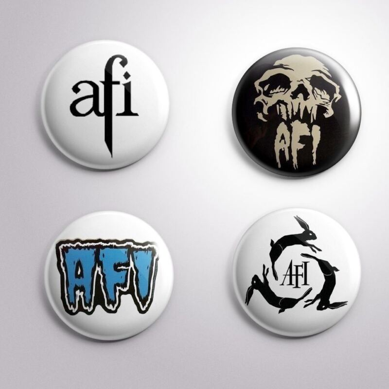 "4 AFI -  Pinbacks Badges Buttons 1"" 25mm"