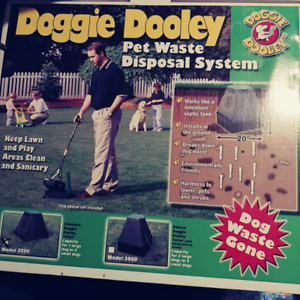► Doggie Dooley Outdoor Pet Waste Disposal System Model 3500