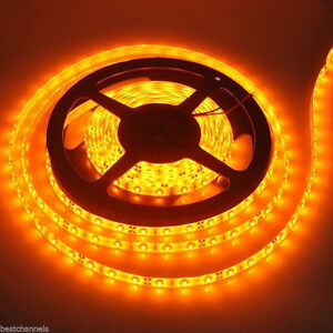 Amber / Yellow Color 5050 LED Strip 300LEDS Flexible Waterproof