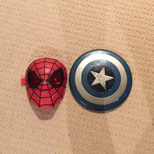 Spider man mask and shield