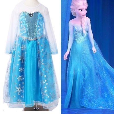 Frozen Elsa Disney inspired Dress Princess costume  IN STOCK New  FREE SHIP ZG8 - Elsa In Frozen Costume