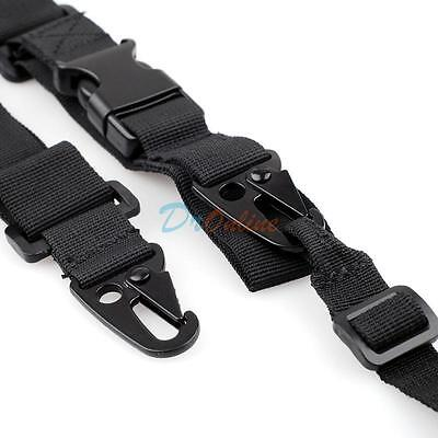 Tactical 3-Point Rifle Gun Sling Strap Lanyard Hook for Outdoor Hunting