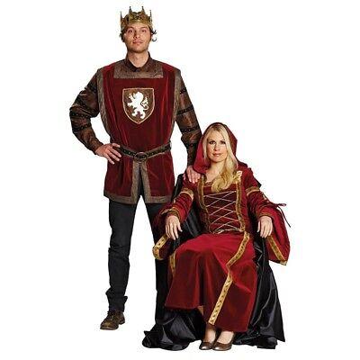 König Arthur Marianne Burgdame Kostüm Deluxe Mittelalter Karneval - Könige Kostüme
