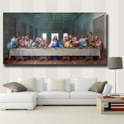 """Leonardo Da Vinci """"The Last Supper"""" HD print on canvas huge wall picture (31x63)"""