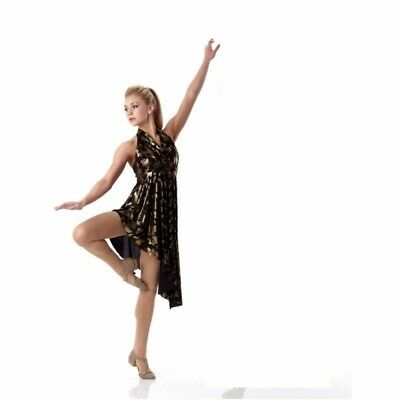 Group Of 6 Costumes (GROUP LOT OF 5 Child Size 6X7 Metallic Gold Ballet Lyrical Dance Costume)