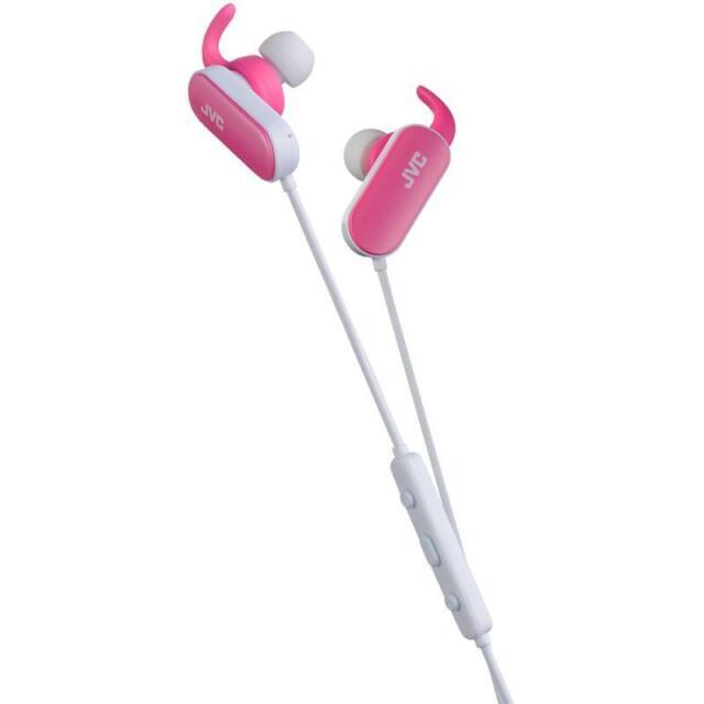 JVC HAEBT5 Comfortable Wireless Sports In-Ear Bluetooth Headphones Pink - New