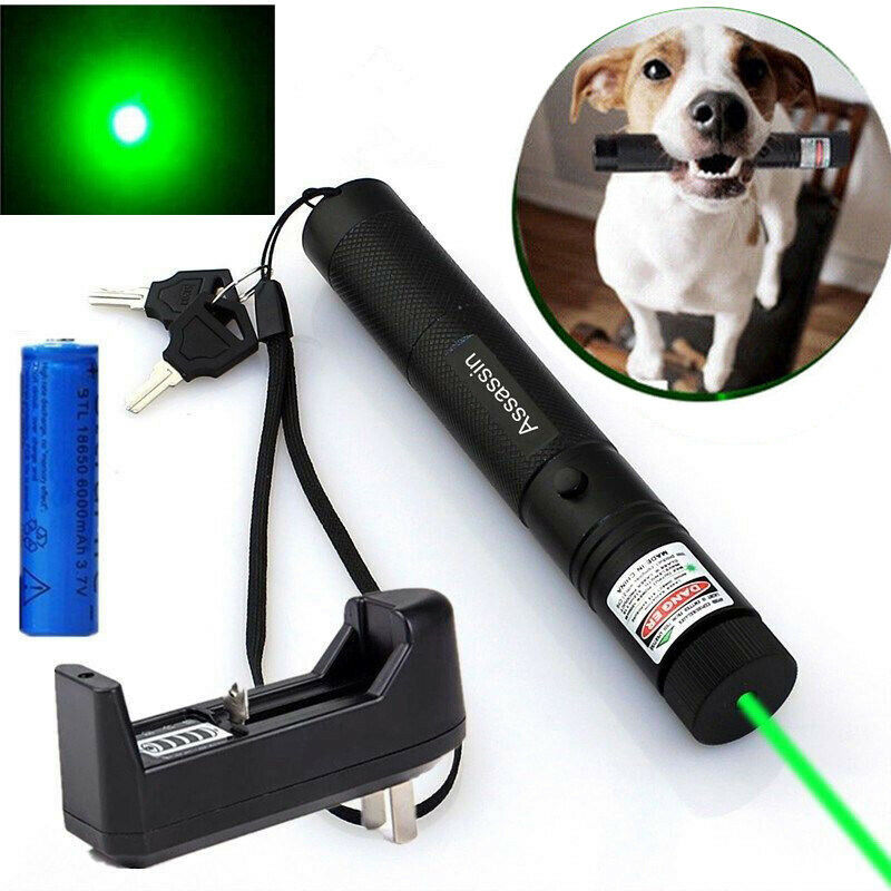 60Miles Visible Beam Red Laser Pointer Pen 650nm 18650 Astronmy Lazer+Batt+Char