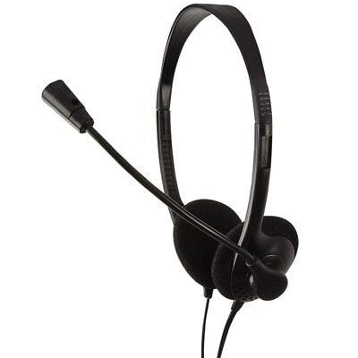 LogiLink Stereo Headset Kopfhörer Mikrofon 3,5mm Klinke Laptop PC