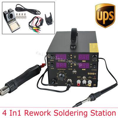 Usa 4 In1 909d Hot Air Gun Unit Soldering Rework Station Welding Solder Machine