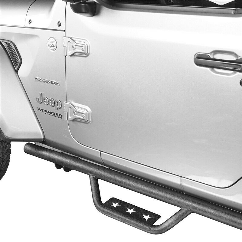 Side Step Running Board Nerf Bars Textured For Jeep