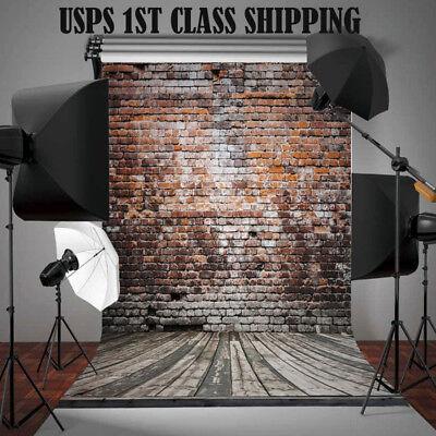5x7FT Brick Wall Vinyl Retro Photography Backdrop Studio Photo Prop Background #