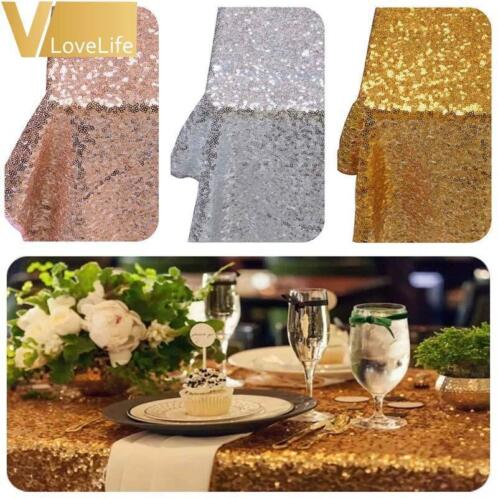 Goud/Zilver/Champagne Pailletten Tafelkleed Sparkly Bling