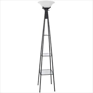 Classy floor lamp with shelves