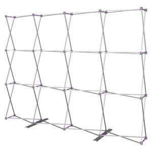 Pop Up Straight 10ft x 8ft-Tension Fabric Display Backwall Frame