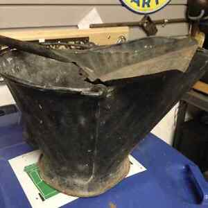 ANTIQUE METAL SCUTTLE ASH COAL BUCKET - PARKER PICKERS -
