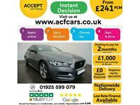 2017 GREY JAGUAR XE 2.0 D 180 R SPORT DIESEL SALOON CAR FINANCE FR £241 PCM