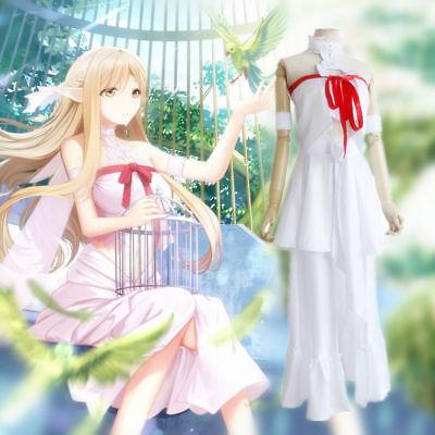 Hot Prisoner Costume (Hot Anime Sword Art Online Yuuki Asuna Prison Dress Girl Cosplay Outfit Full)