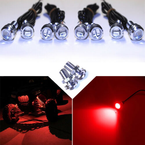 8x  Red LED Boat Light Waterproof 12v Bowrider Deck Aluminium Landau Sylvan