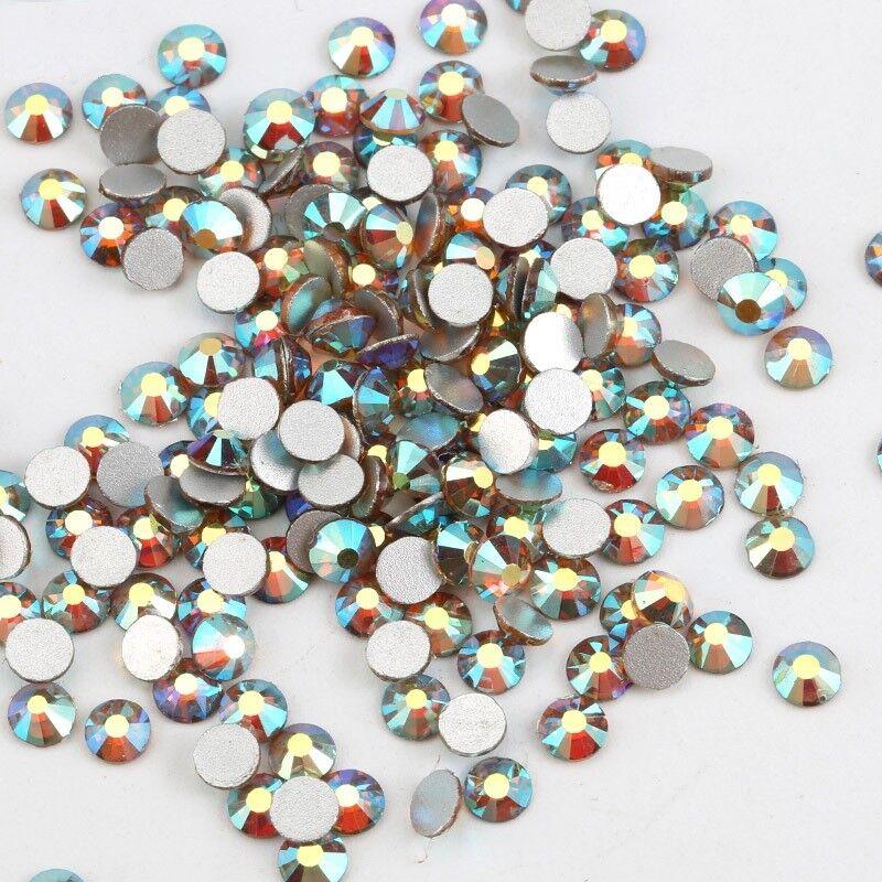 1440pcs Glitter Sunrise Ab Nail Art Rhinestones Crystal Gems 3d Nails Decoration