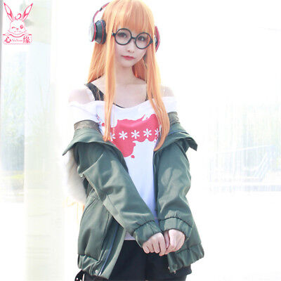 Hot Game Persona 5 Futaba Sakura Cosplay Cotumes Women's Uniform Outfit Full Set