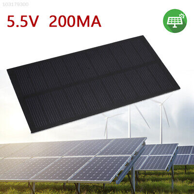 4ED5 Durable Frosted Glass Plate Solar Cell Solar Charging Phone Charger