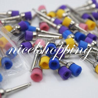 Dental Polishing Polisher Prophy Brushes Colorful Nylon Bowl Flat Type Choose