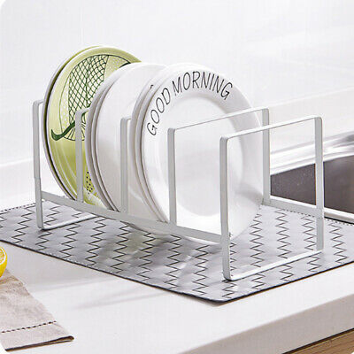 Metal Plate Holder Dish Rack Organizer Kitchen Counter Cabinet Pantry Drainer Metal Plate Rack
