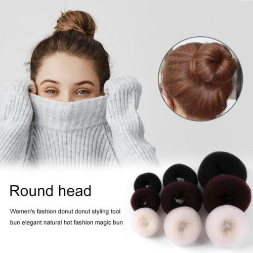 Women's Girls Magic Hair Bun Snap Styling Donut Former French Twist Hair Roller Clothing, Shoes & Accessories