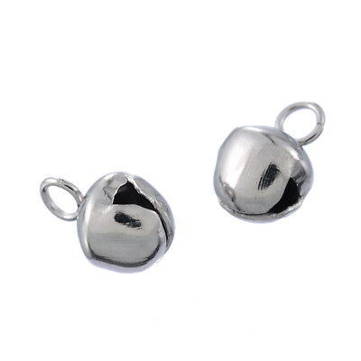 10pcs Stainless Steel Bell Charm Pendant Jewelry Findings Supplies 8x5.3mm