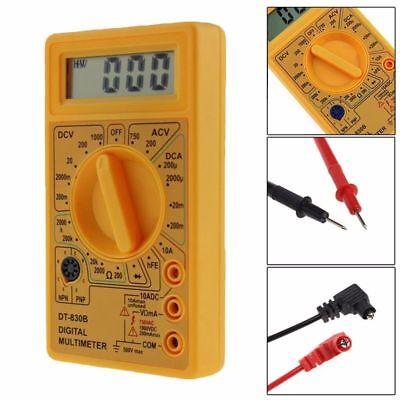 Dt-830b Multimeter Lcd Auto Range Digital Voltmeter Ohmmeter Volt Tester New