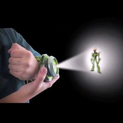 US BANDAI BEN10 Kids Watch Projector Omnitrix Alien Viewer W/ 3 Disks 30 Images