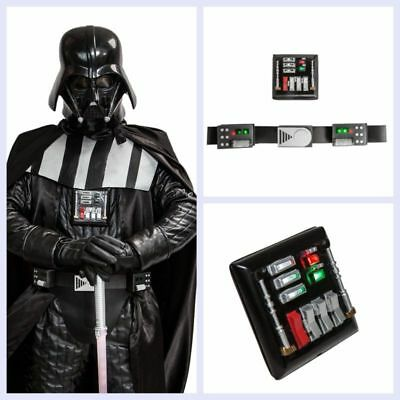 Darth Vader Costume Accessories (Darth Vader Belt Chest Plate Led Lights Star Wars Cosplay Costume Prop Party)