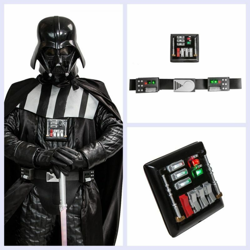 Darth Vader Belt Chest Plate Led Lights Cosplay Costume Prop Party New