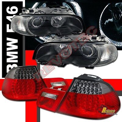 00-02 BMW E46 330ci 325ci Coupe Halo Projector Headlights Corner & LED Tail Ligh for sale  Shipping to Canada