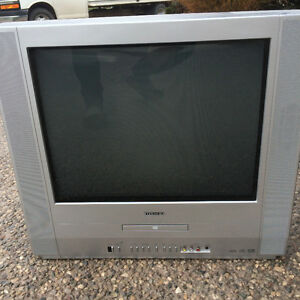 "Toshiba 20"" TV with built in DVD player"