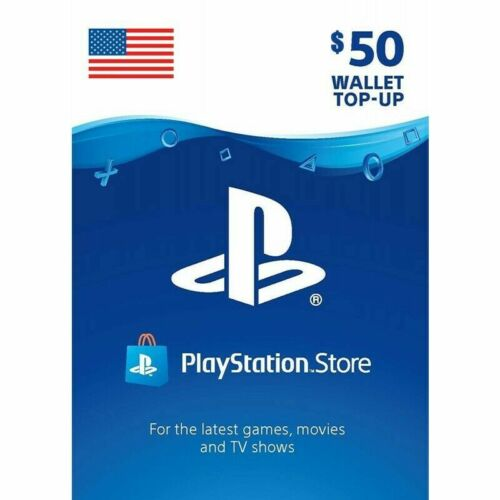Sony US Playstation Network Playstation Store PSN USD 50 Dollar Code PS4 PS3