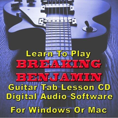 BREAKING BENJAMIN Guitar Tab Lesson CD Software - 56 Songs   eBay