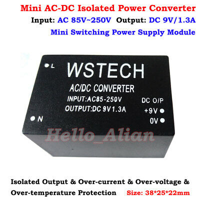 Ac-dc Converter 110v 220v 230v To 9v 1.3a Isolated Switching Power Transformer