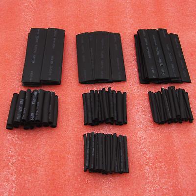 127Pcs Black Glue Heat Shrink Sleeving Tubing Tube Assortment Kit Waterproof
