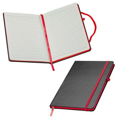 Farbe samtweiches PU Hardcover schwarz DIN A6 // blanko 160 S Notizbuch