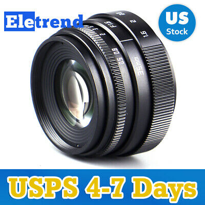 US 35mm F1.6 Wide Angle CCTV Cine Lens For Sony NEX Canon EOS M M43 MFT Nikon 1